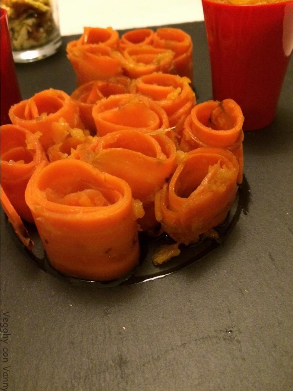 Spirali di carote marinate