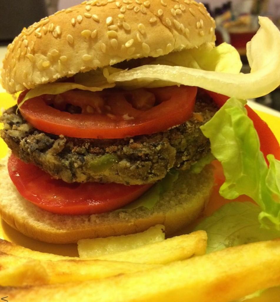 Hamburger di fagioli neri