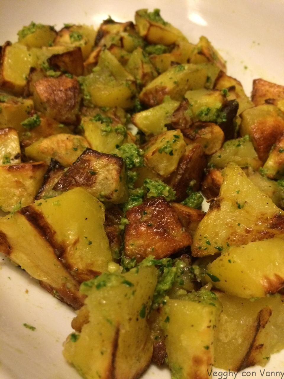 Patate arrosto al pesto