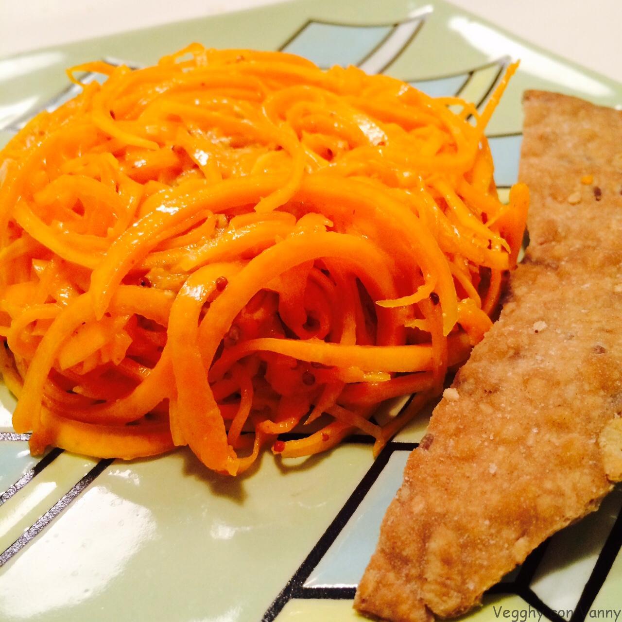 Spaghetti di zucca alla senape rustica