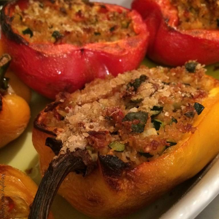 Peperoni ripieni di bulgur e verdure