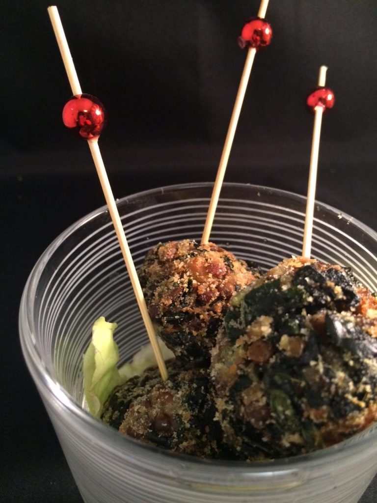 Polpette di cavolo nero e lenticchie