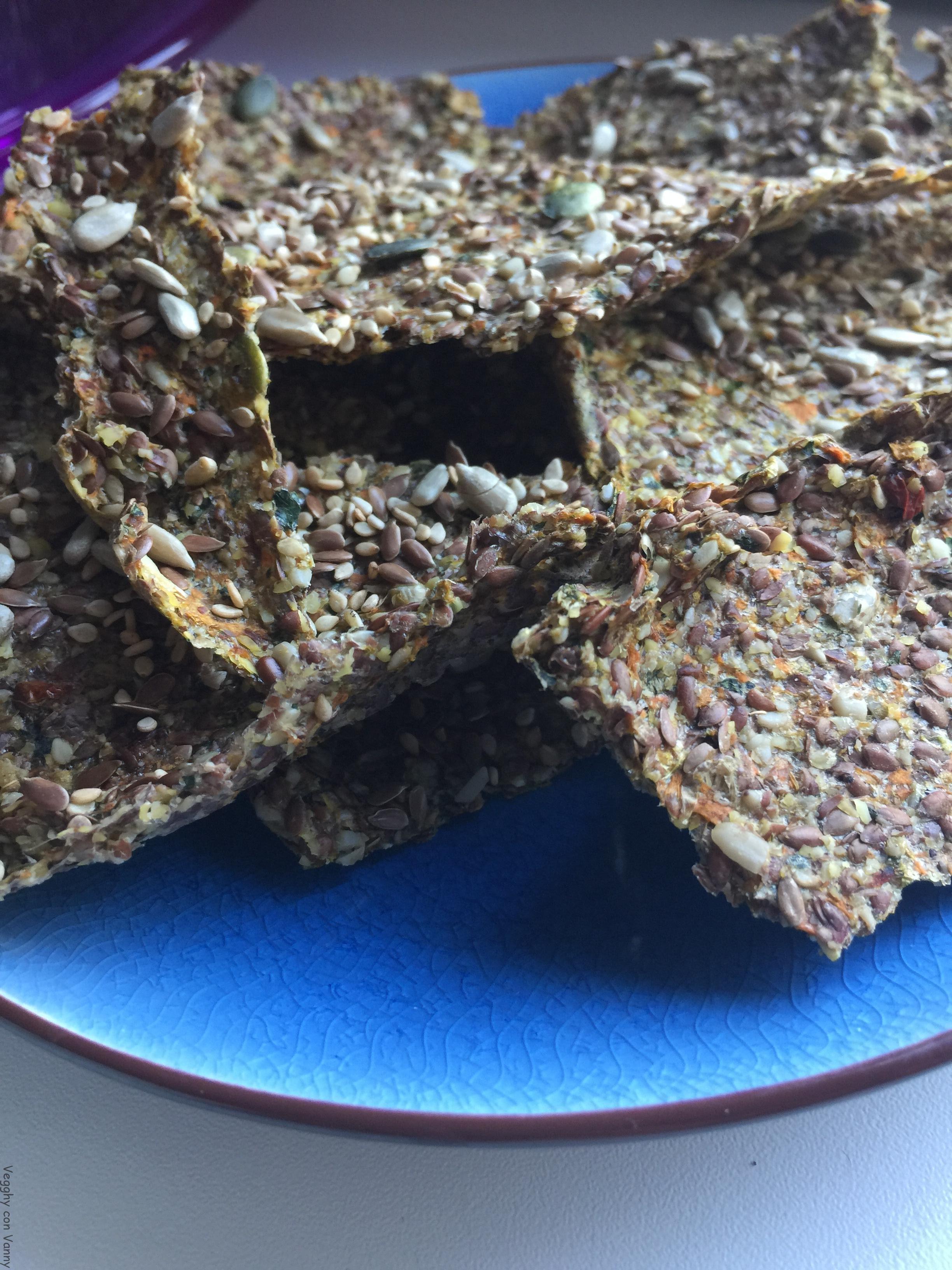Crackers di semi vari e verdure
