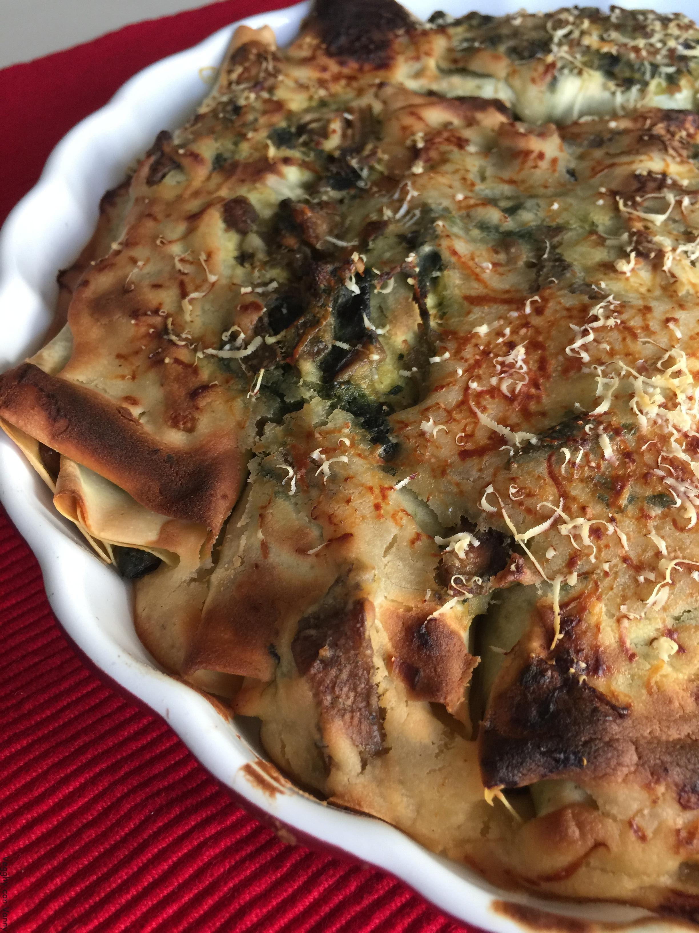 Cannelloni ai funghi e spinaci