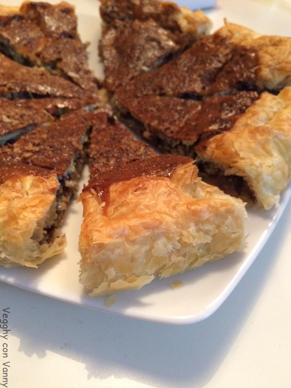 Torta salata al radicchio di Treviso e noci