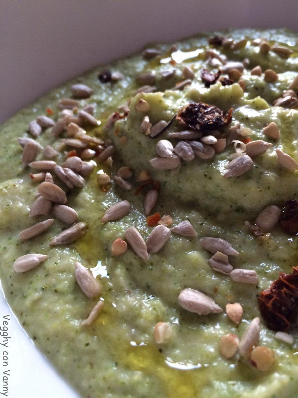 Crema di topinambur e broccoli