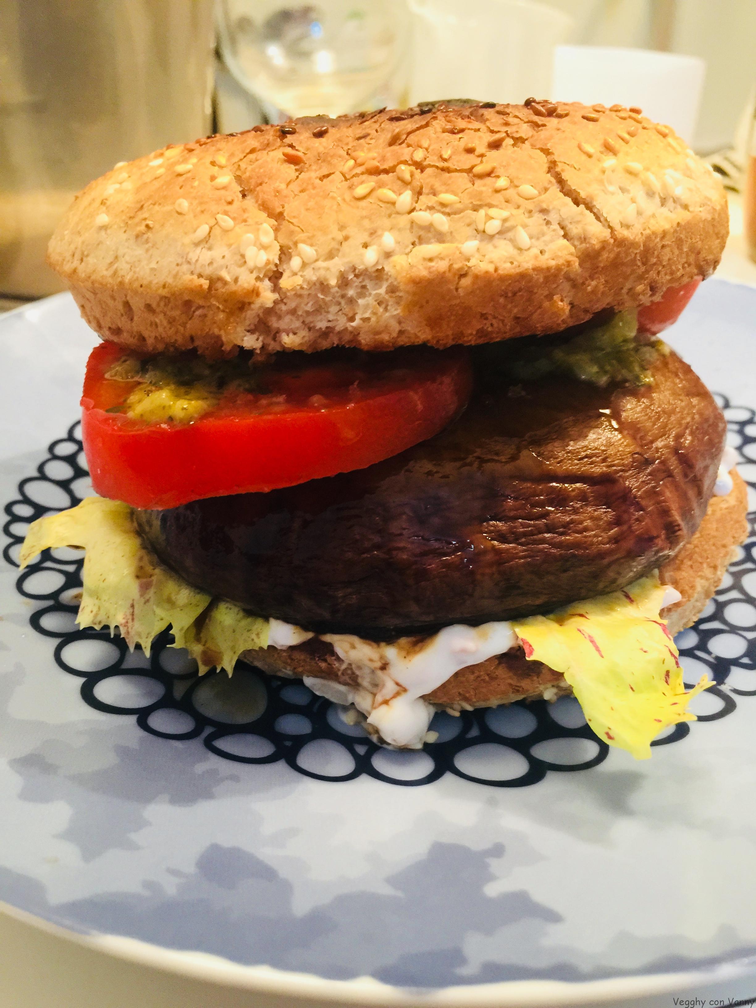Burger con funghi Portobello